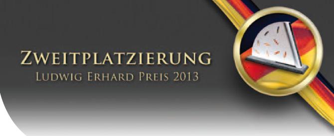 Zweitplatzierung Ludwig-Erhard-Preis 2013